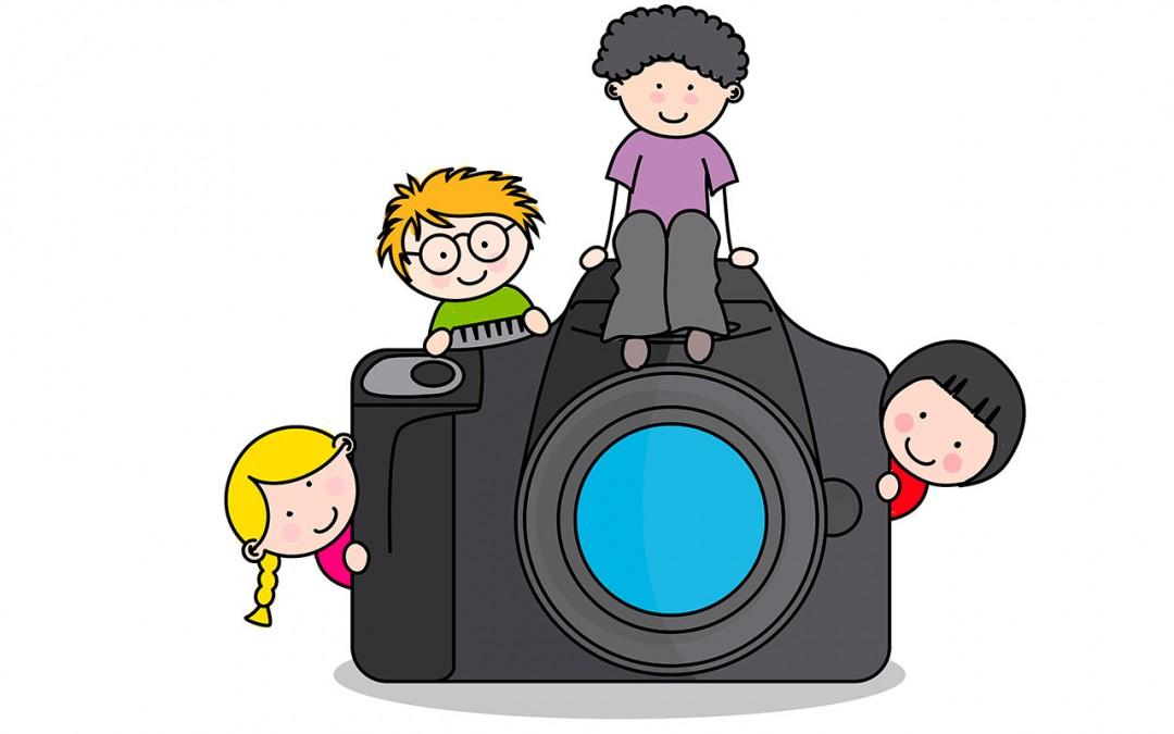 clip art of camera and children