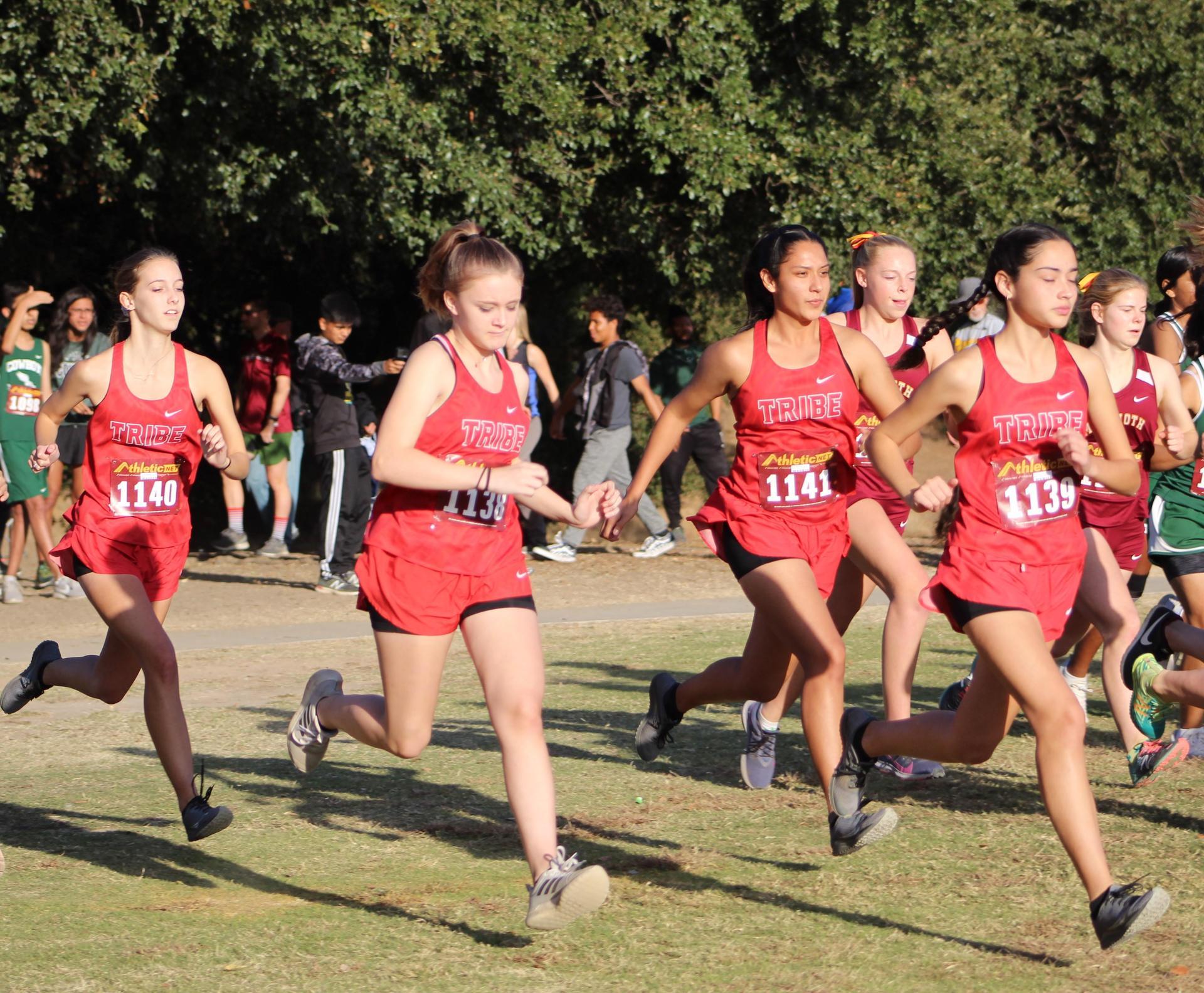 Girls Running
