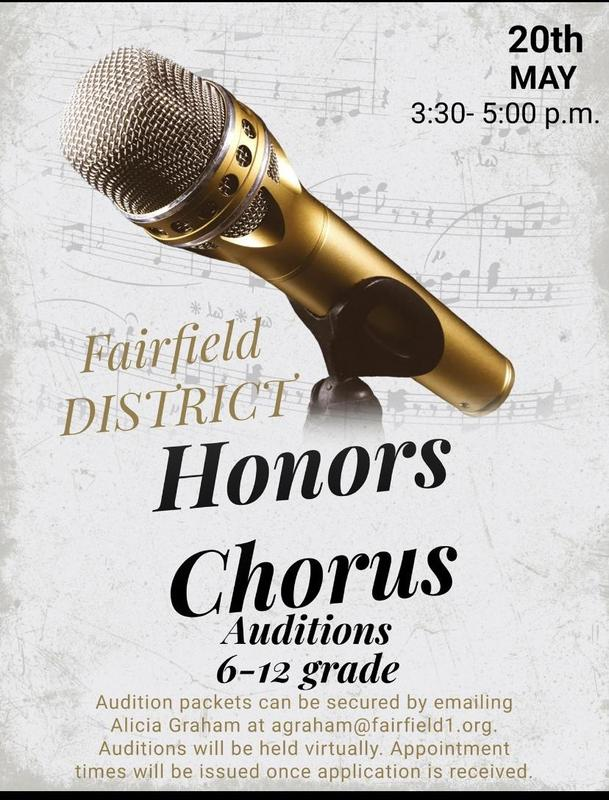 audition flyer with information