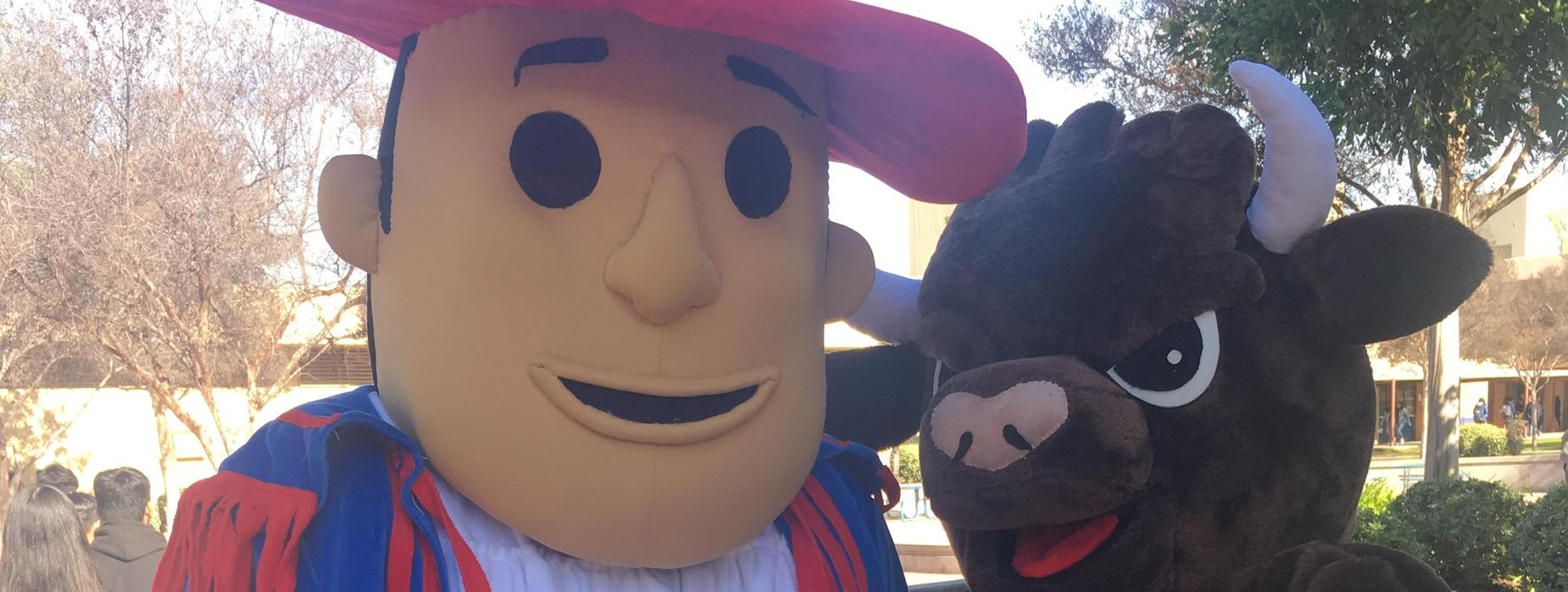 Our Matador and Bull Mascot