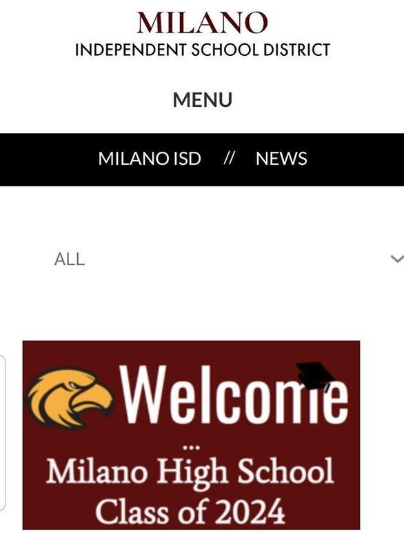 Milano ISD Freshman