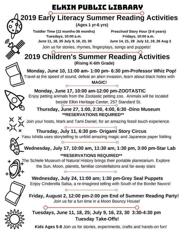 Summer Reading at Elkin Library Thumbnail Image