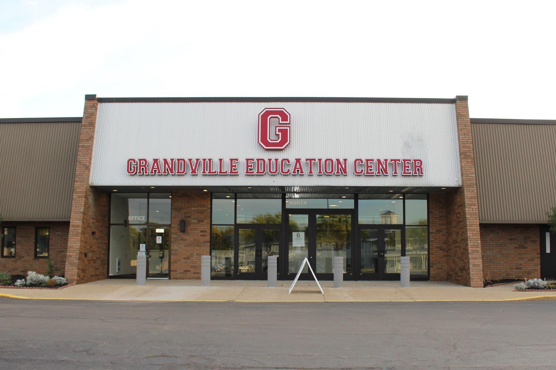 exterior of GEC building entrance