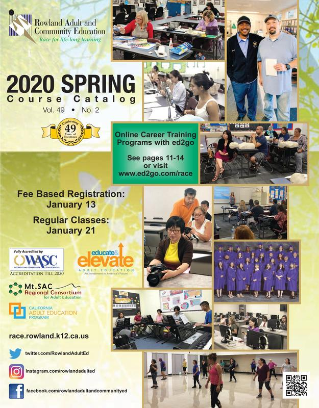 Adult Ed Spring Catalog