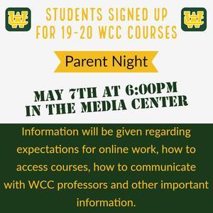 WCC Parent Night