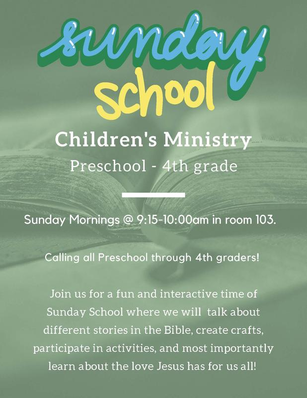 Children's Ministry Preschool - 4th grade- Sunday Mornings @ 9:15-10:00am in room 103 Featured Photo