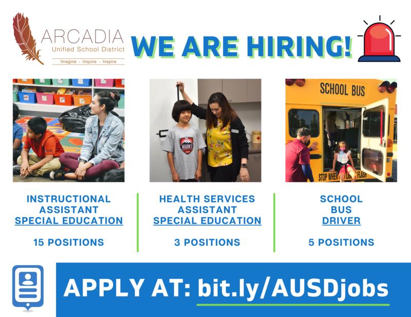 Arcadia Unified Job Alert