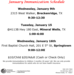 Immunization Clinic dates, times and locations.