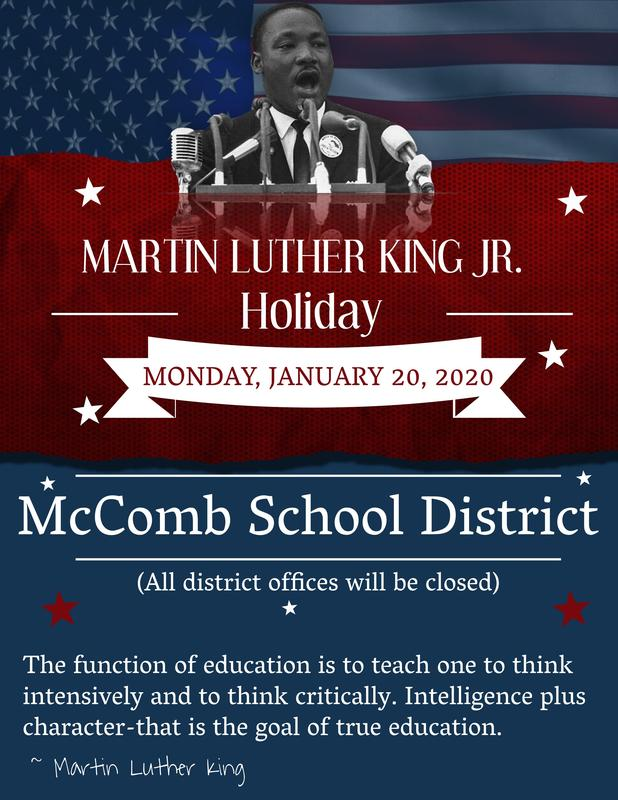 Martin Luther King Jr. Holiday Announcement 2020
