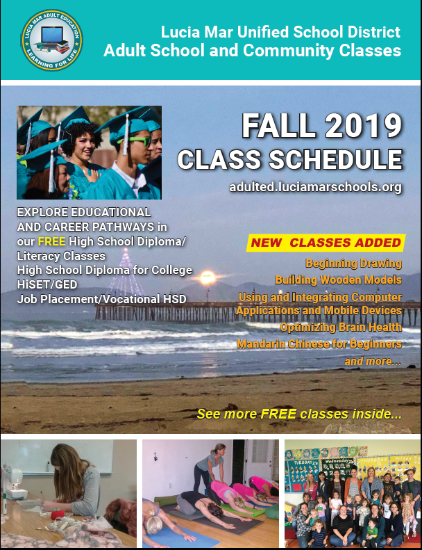 Front Page of Fall 2019 Schedule of Classes