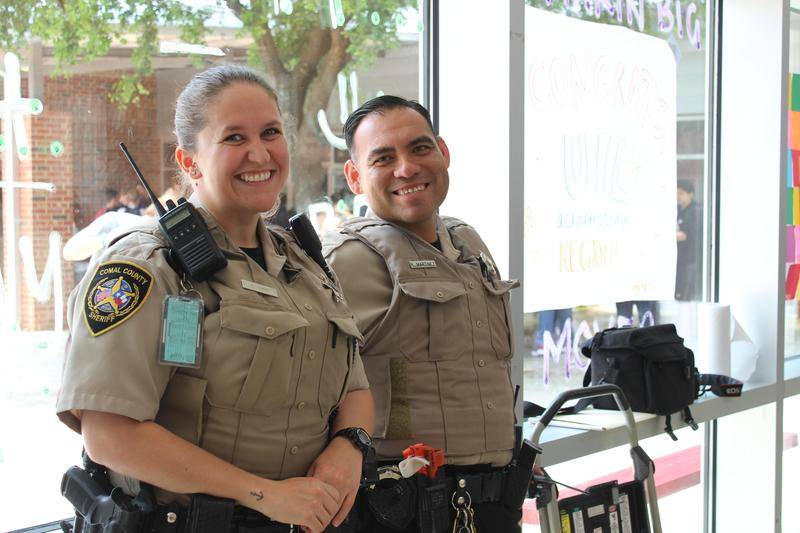 DARE officer Haik and SRO deputy Martinez
