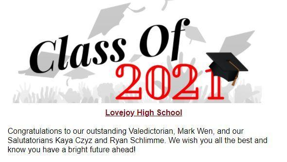 @Lovejoy_HS Principal's Newsletter 05.24.21 Featured Photo