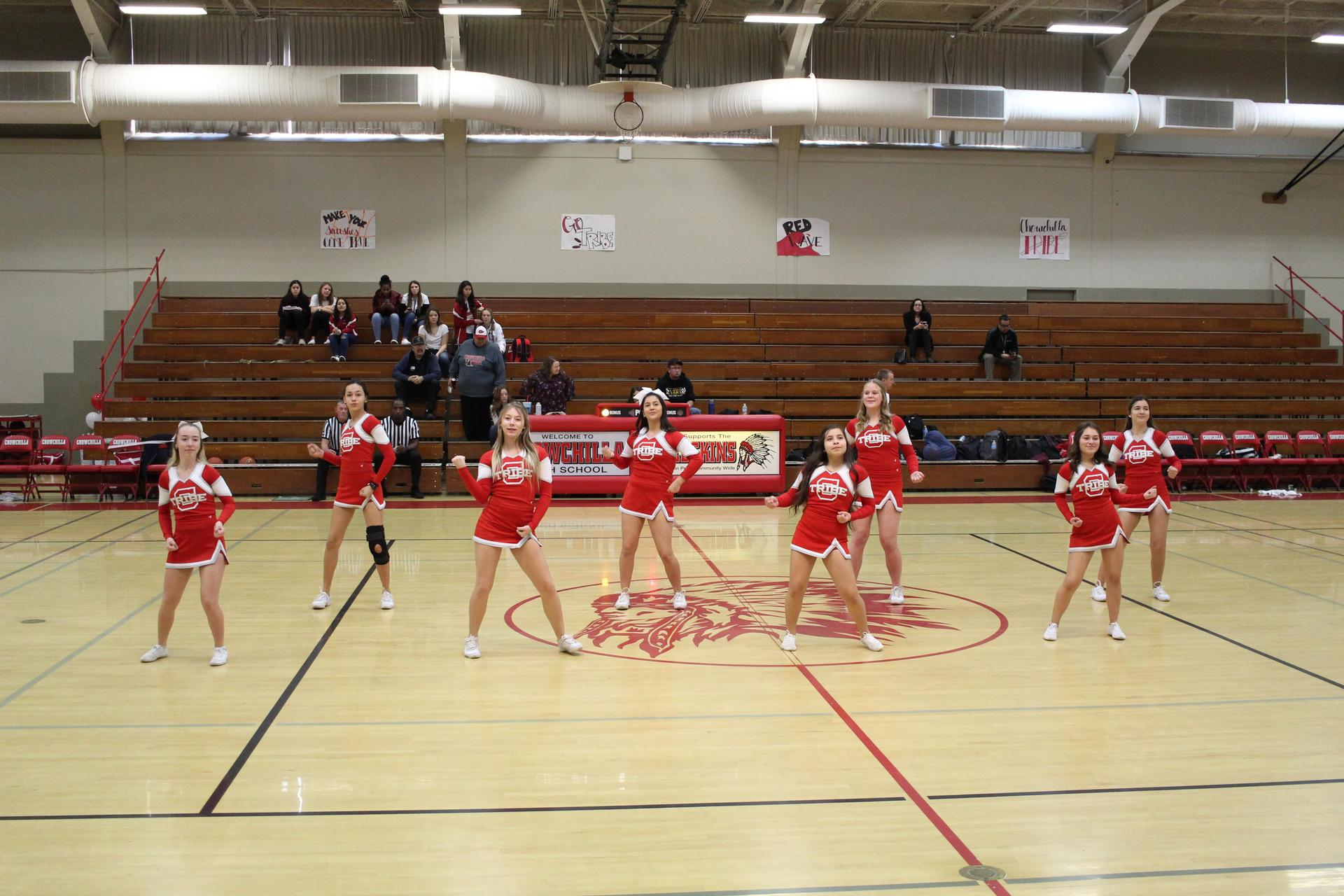 Cheerleaders at Washington Union Game