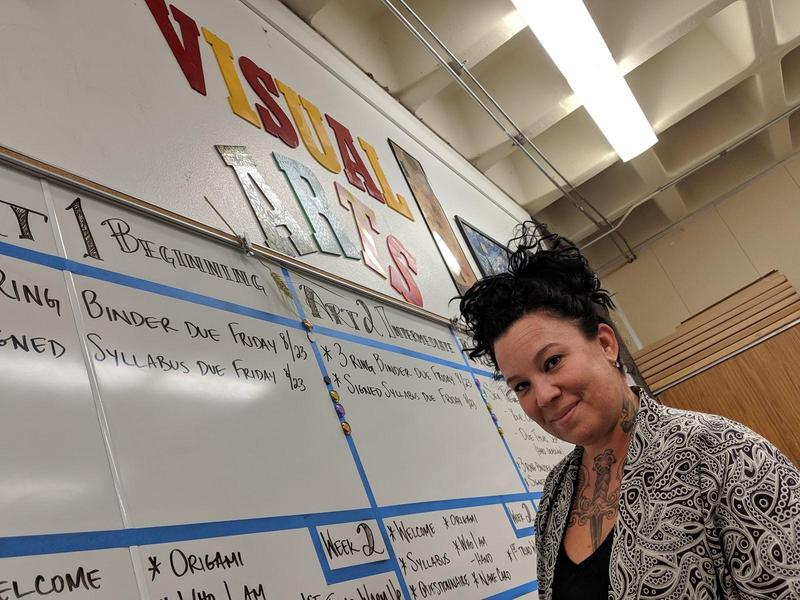 Kari Howell in her classroom