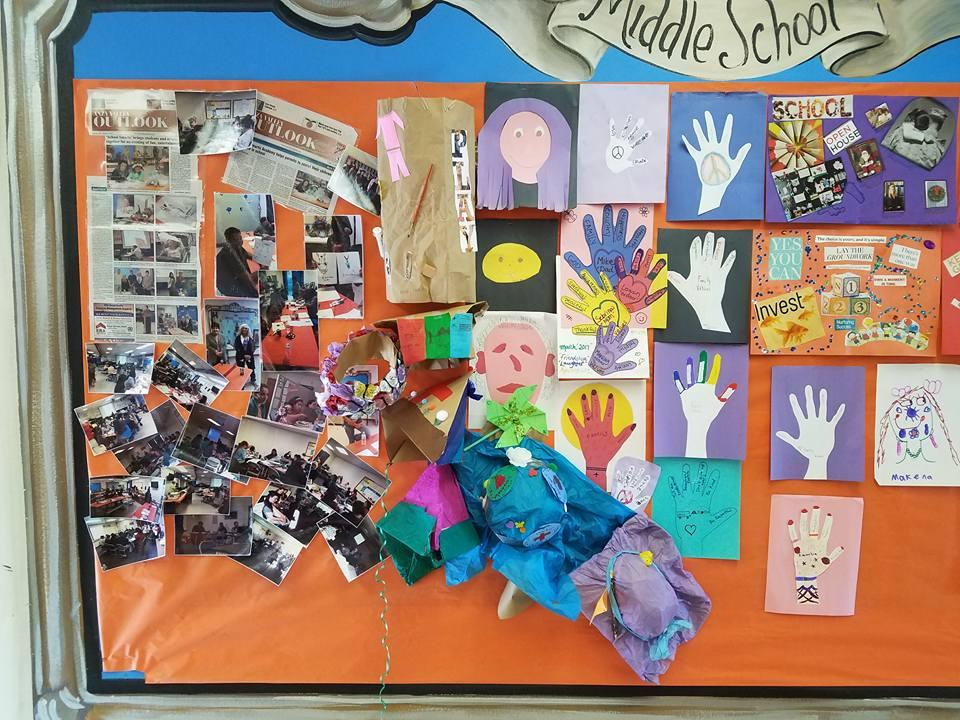 Art created by parents at School Smarts class