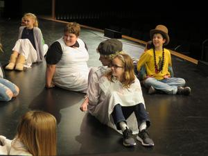 TKMS students rehearse a scene from their upcoming shows of