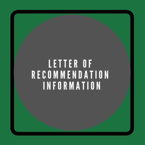 Letter of Recommendation Information