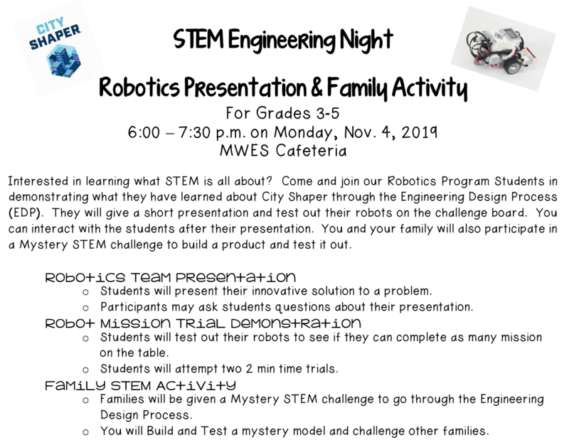 STEM Engineering Night on November 4 Featured Photo