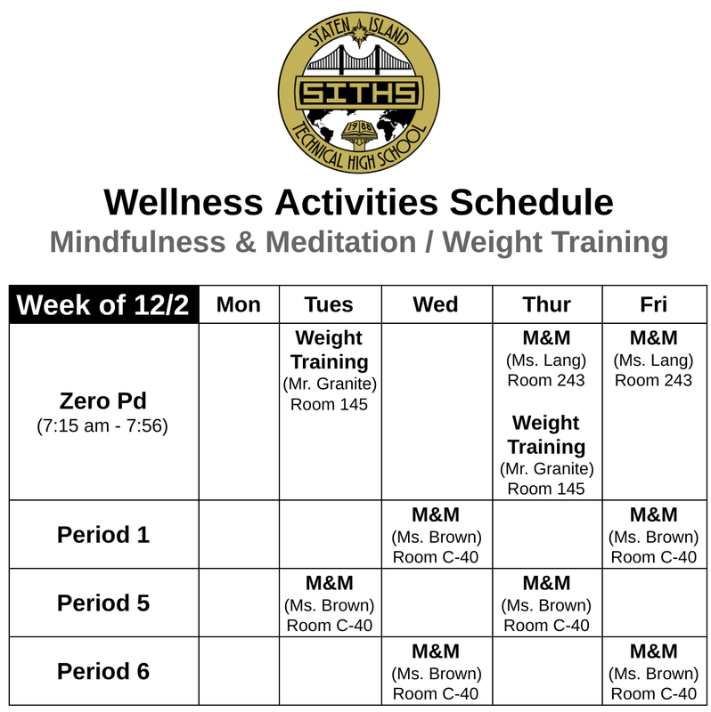 Registration Link for Mindfulness & Meditation For All Schedule for the Week of 12/2 (http://bit.ly/2VqxIkJ) Featured Photo