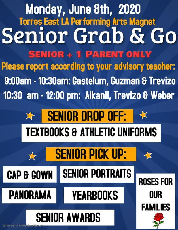 NEW DATE  - Senior Grab and Go - June 8th Featured Photo