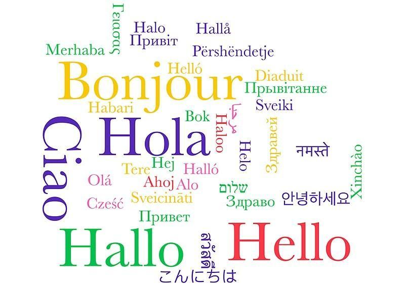 'Hello' in various languages