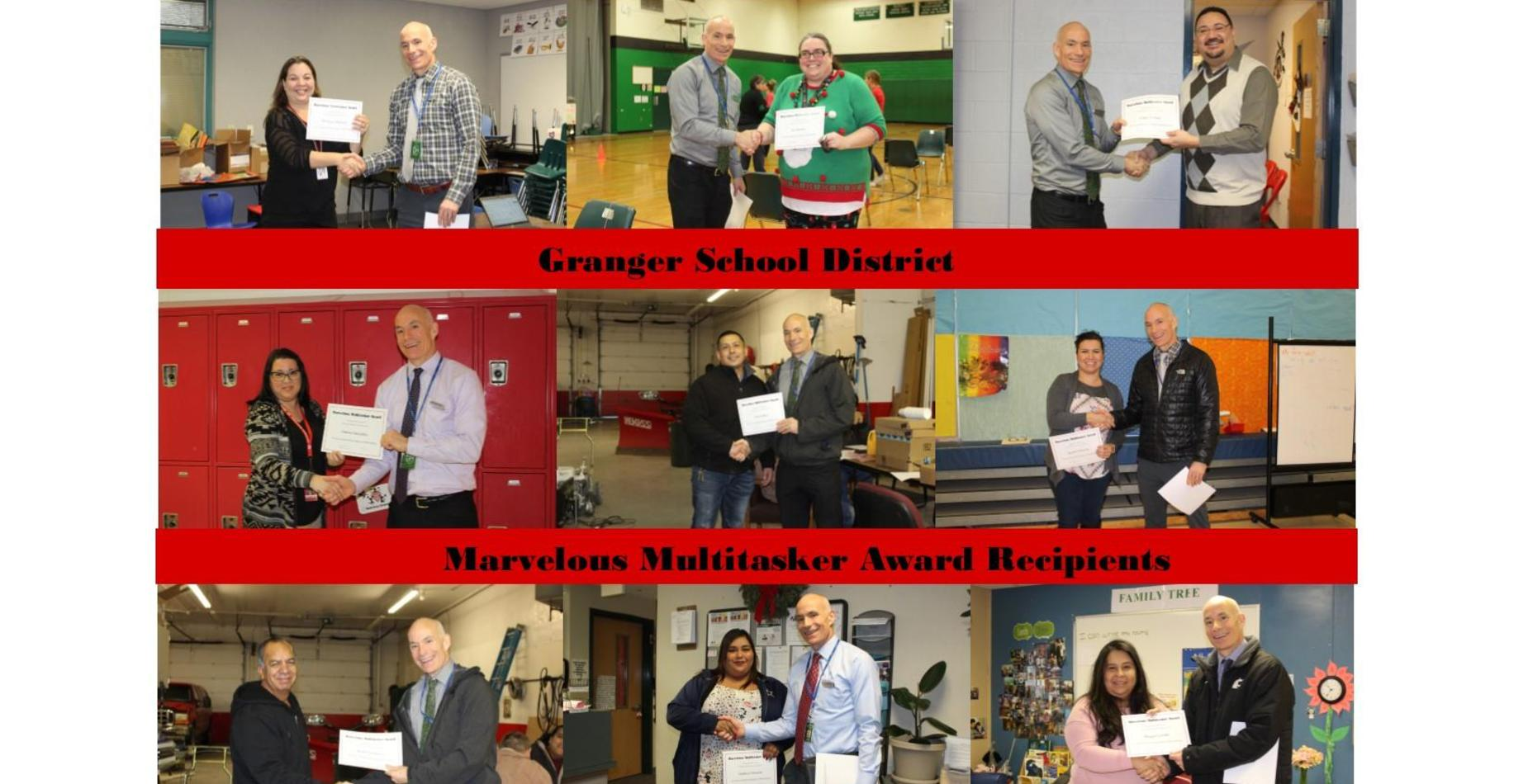 Picture of December Staff Nomination Recipients