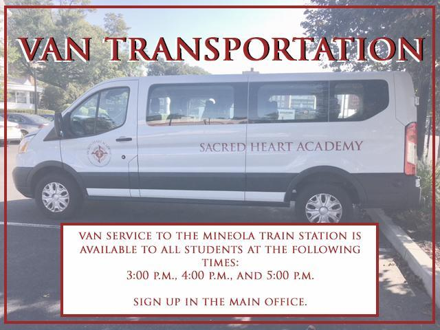 Transportation Admissions Sacred Heart Academy