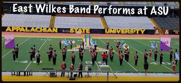 East Wilkes Bands perform in competition at Appalachian State University.