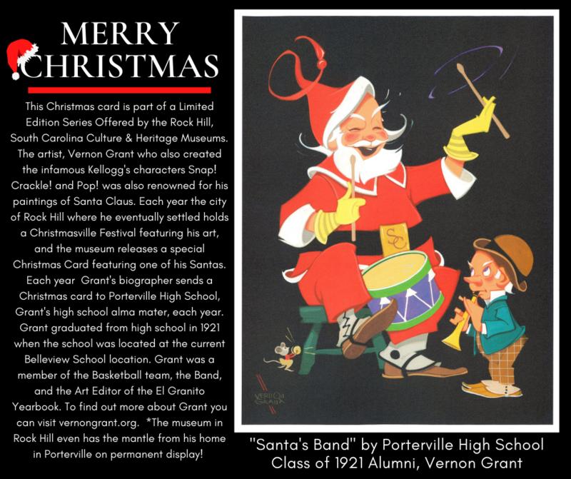 Vernon Grant 2020 Christmas Card & info