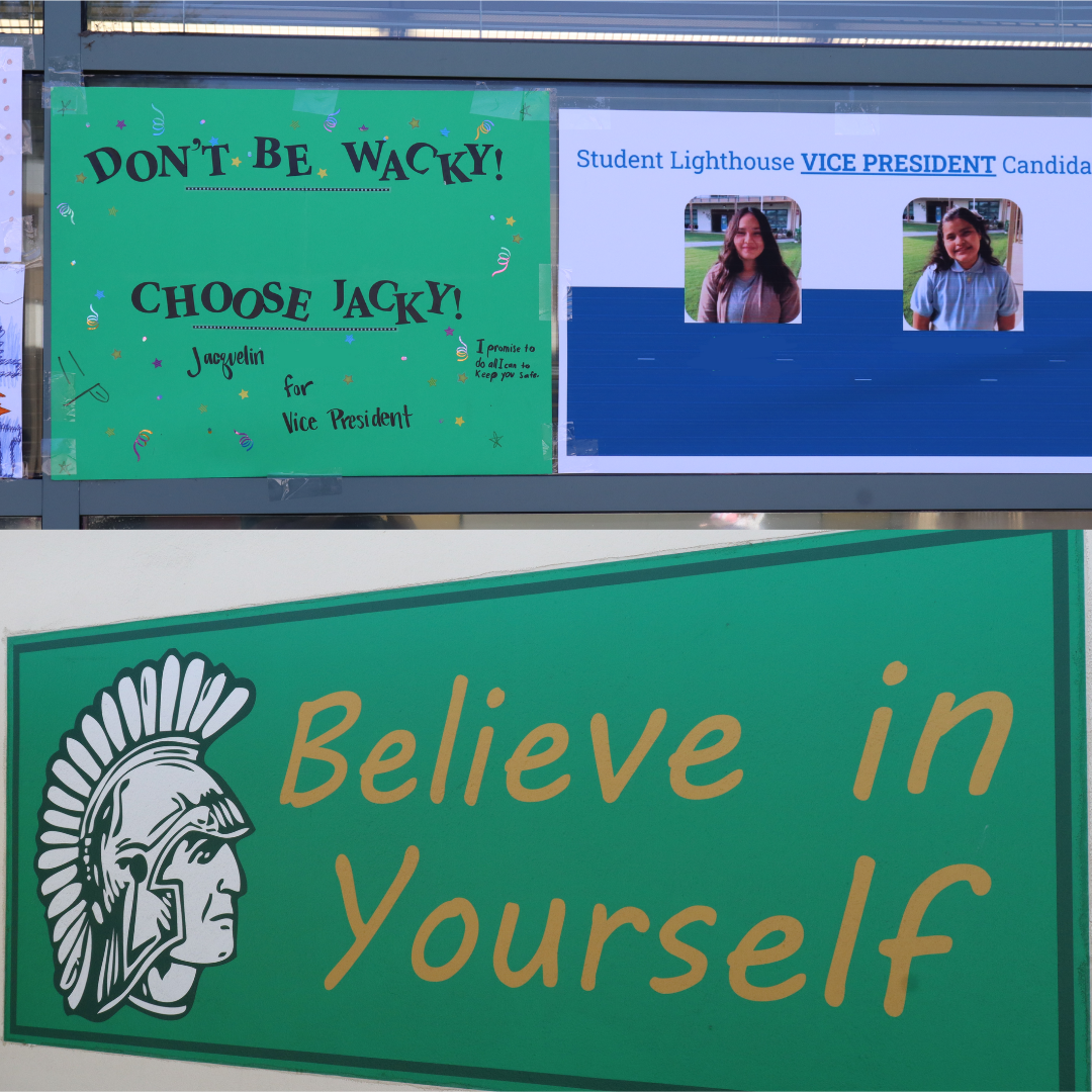 Photo of more Shirpser student leadership posters