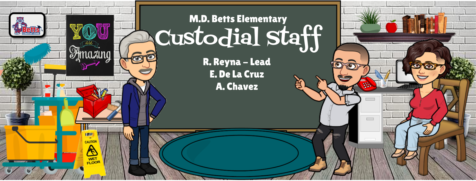 Image of Bitmoji Staff - Custodial