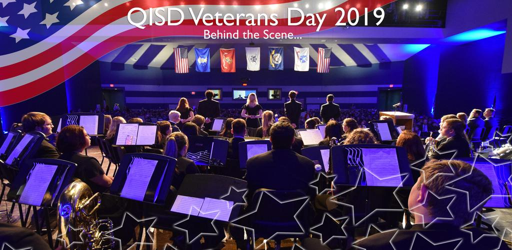 QISD VETERANS DAY 2019 BEHIND THE SCENE...BAND ONSTAGE