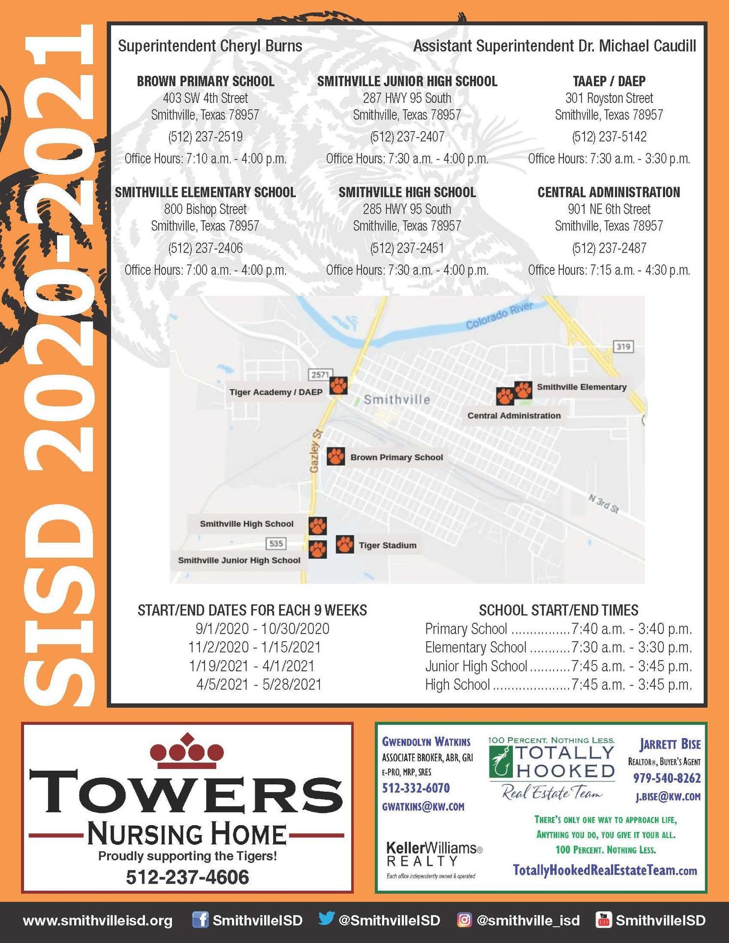 2020 SISD Academic Calendar page 2