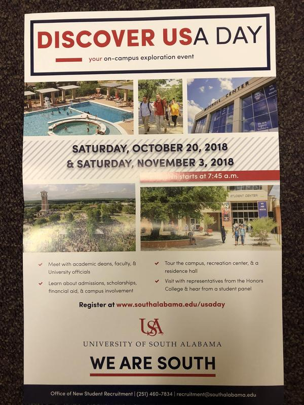 Discover the University of South Alabama flyer