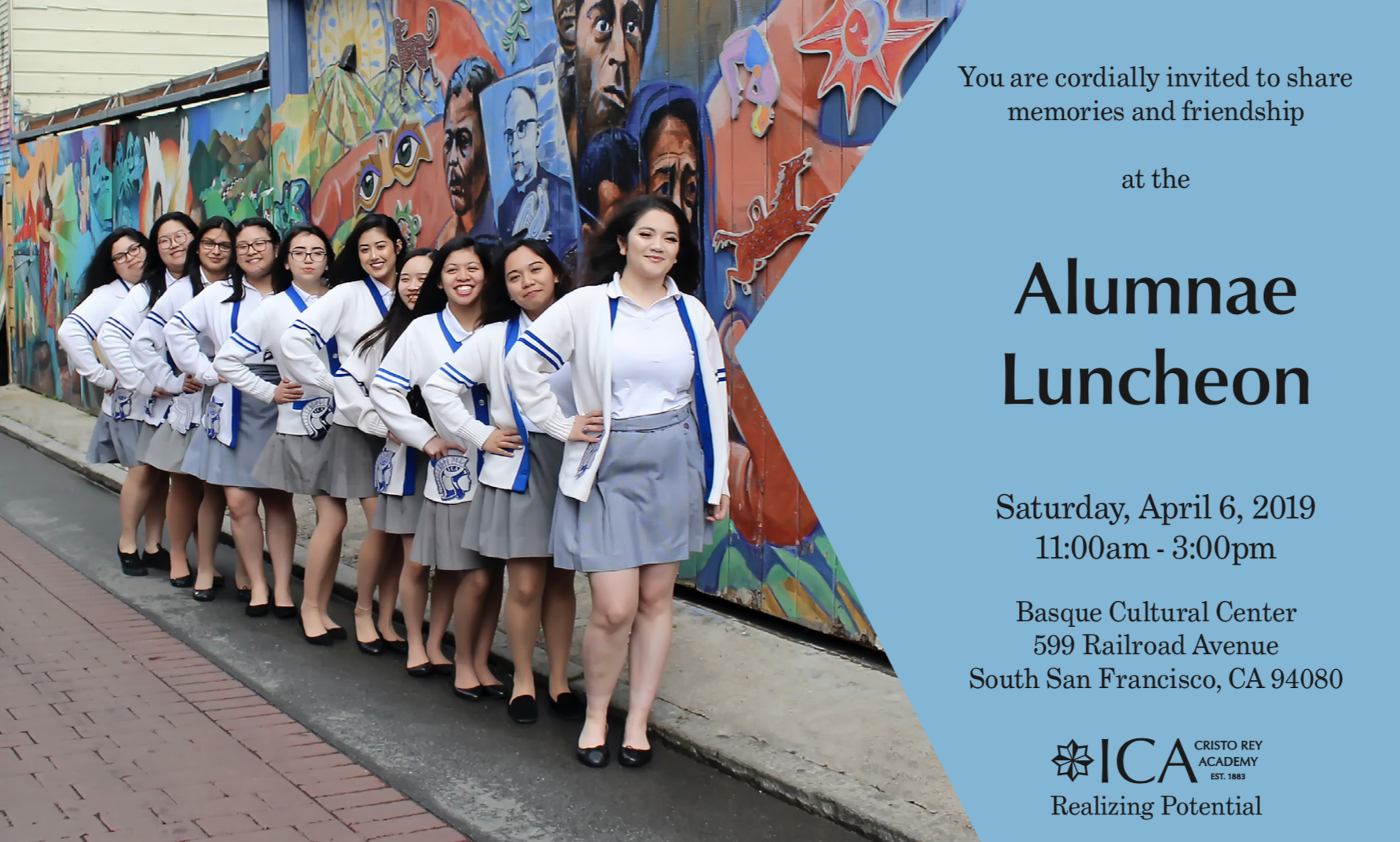 ad for upcoming Alumnae lunch