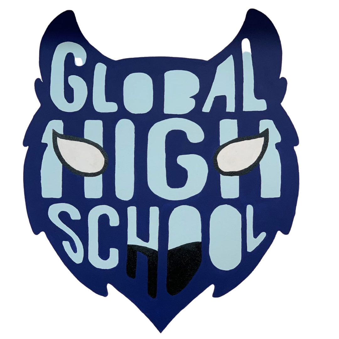 mural of school logo