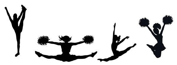Sea King Winter Spirit Clinic - silhouettes of girls jumping and cheering