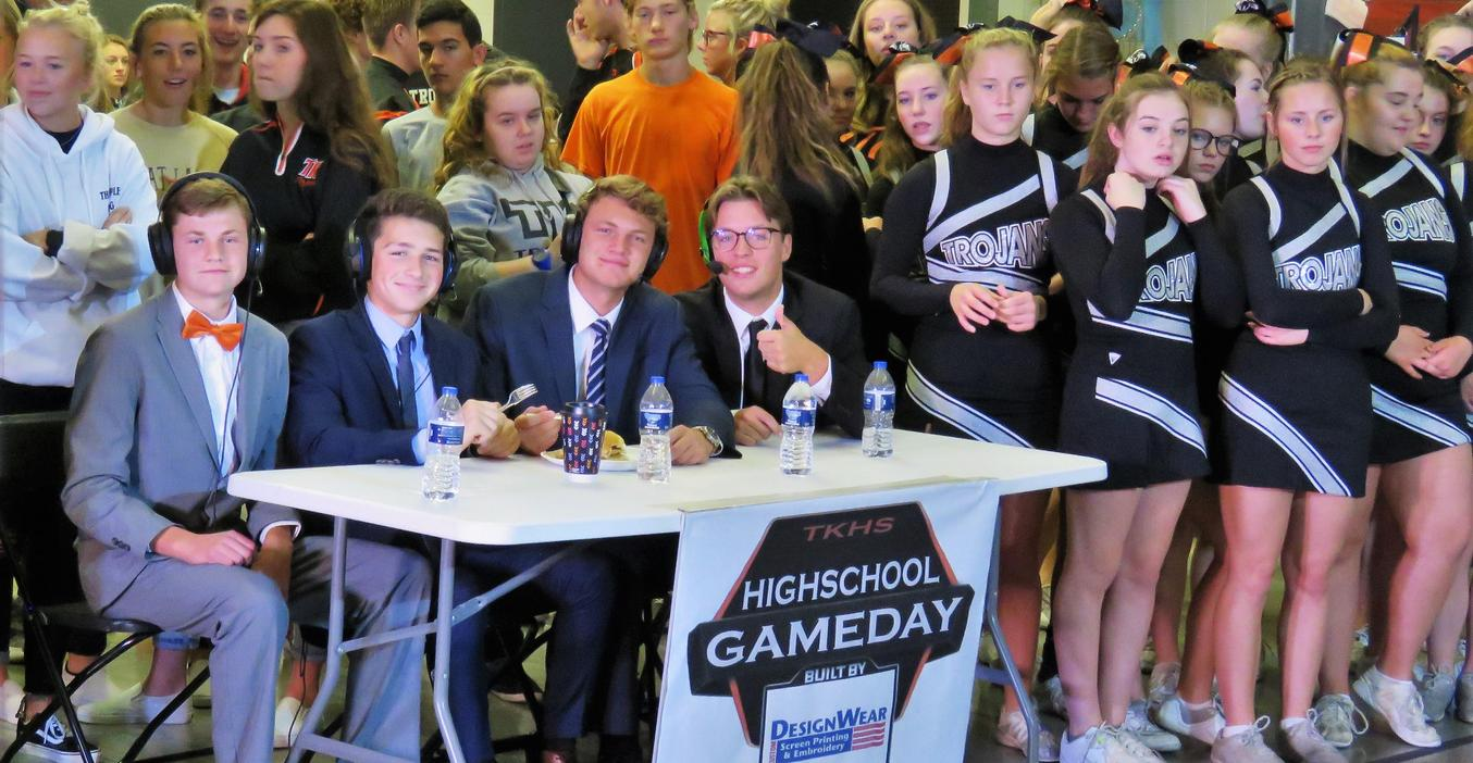 TKHS students prepare for Football Frenzy with WOOD TV 8.