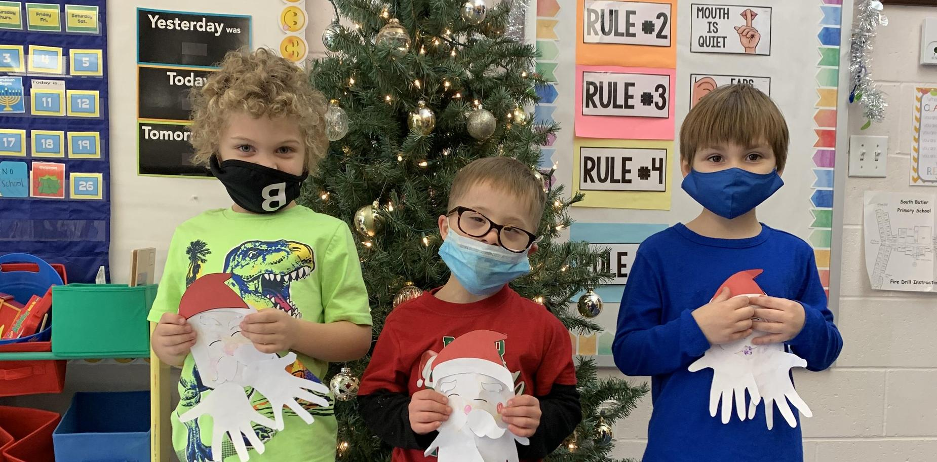 Students in holiday attire