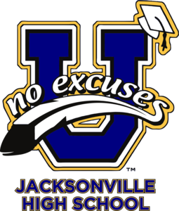 Logo for a No Excuses University campus