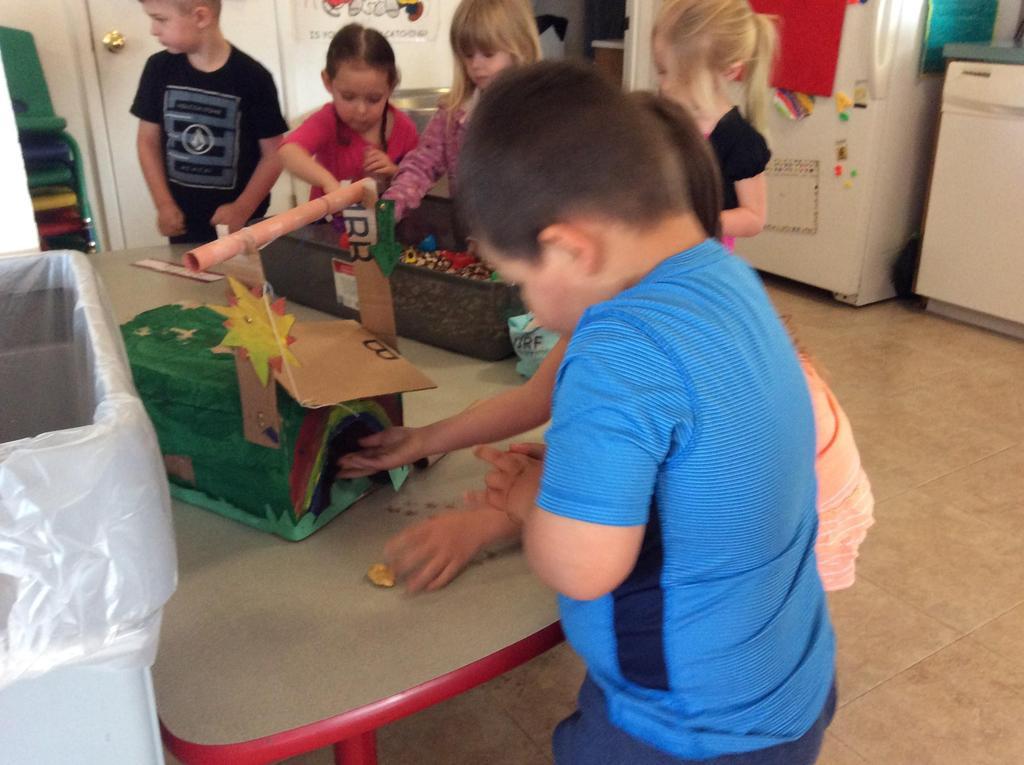 children building a leprechaun trap