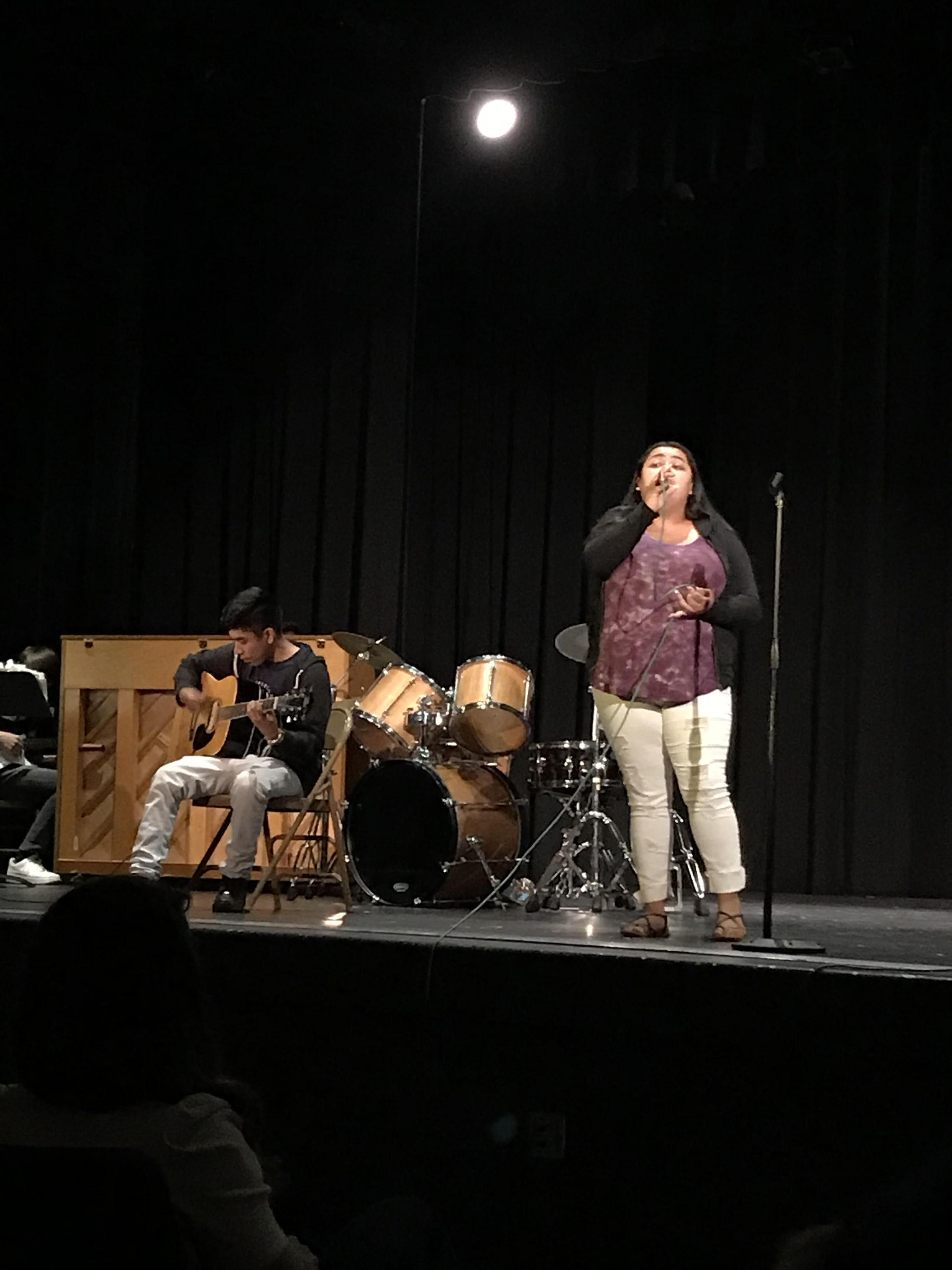 Student performance at Art Night
