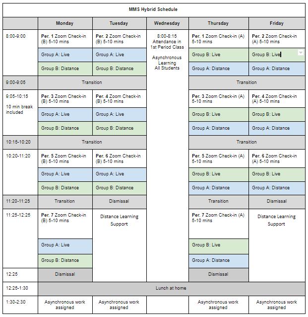hybrid program schedule