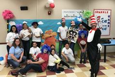Staff and students worked very hard for Family Literacy Night to be successful.