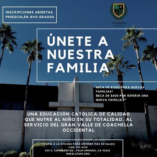 Únete A Nuestra Familia Featured Photo