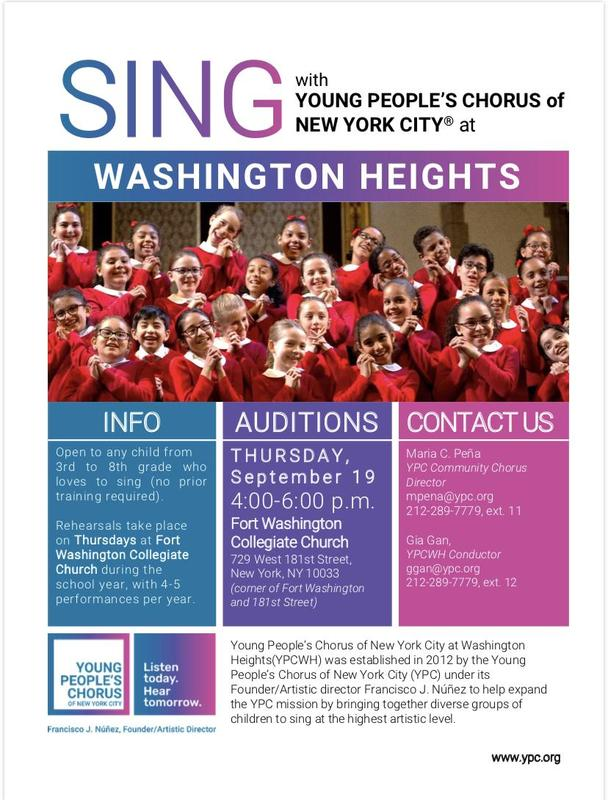 Audition flyer english