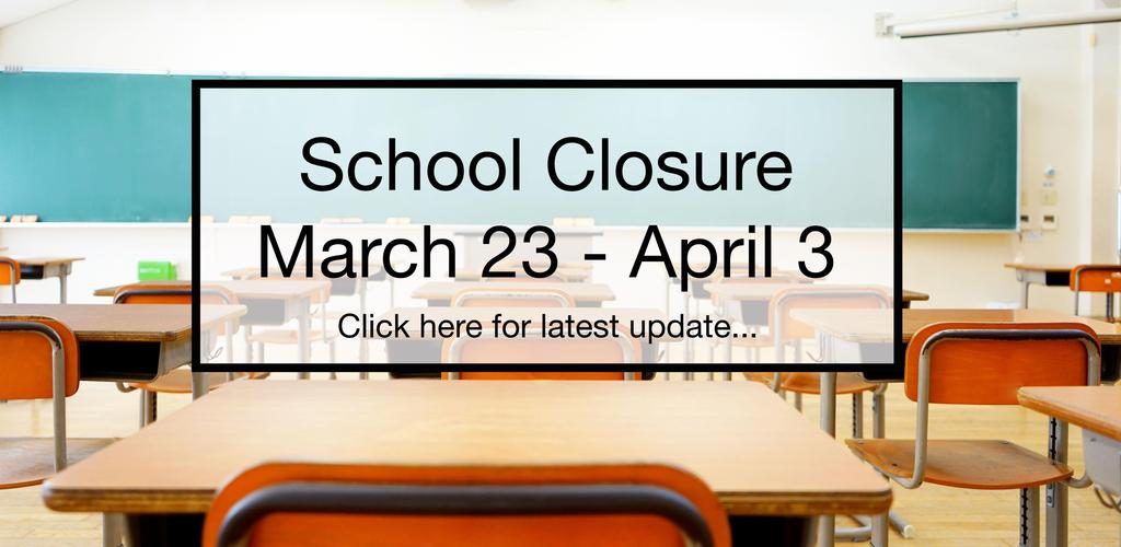 Empty Classroom - School Closure, March 23 - April 3