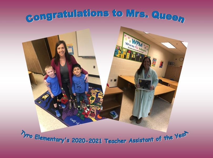 Teacher Assistant of the Year Alice Queen
