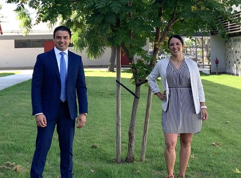 Javier Ortega and Evelyn Barba