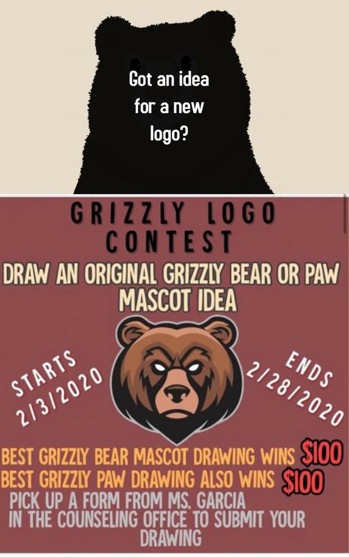 Grizzly Logo Drawing Contest Featured Photo